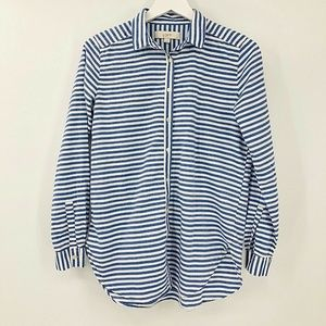 Ann Taylor LOFT Striped Button Front Shirt